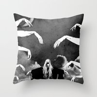 witchcraft Throw Pillows featuring Witchcraft by Merwizaur