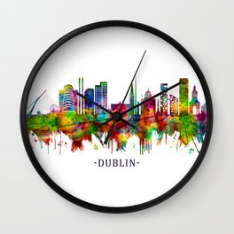 Dublin Republic of Ireland Skyline Wall Clock