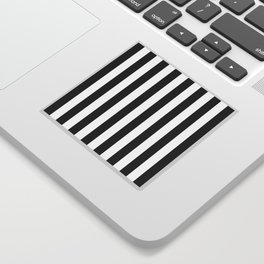 Parisian Black & White Stripes (vertical) Sticker