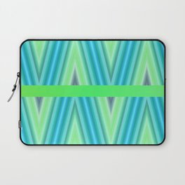Zig Zag pattern light blue and green 1 Laptop Sleeve