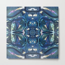 Pattern 31 - Blue Glass Metal Print