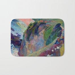 """Paul Gauguin """"The Flageolet Player on the Cliff (Le jouer de flageolet)"""" Bath Mat"""