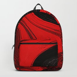 Abstract art red and blacks Backpack