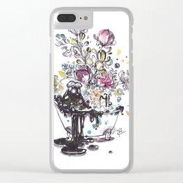 Bubble bath Clear iPhone Case