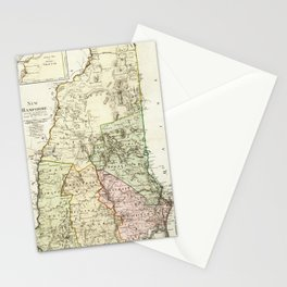 Vintage Map of New Hampshire (1796) Stationery Cards