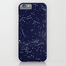 Constellation Map - Indigo iPhone Case