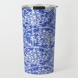 Vintage Lace Sapphire Blue Travel Mug