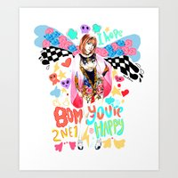 2ne1 Art Prints featuring 2NE1 Happy: Park Bom by Haneul Home