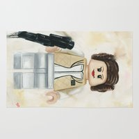 princess leia Area & Throw Rugs featuring Lego Princess Leia by Toys 'R' Art