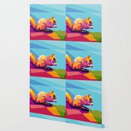 Squirrel Colorfull Wallpaper