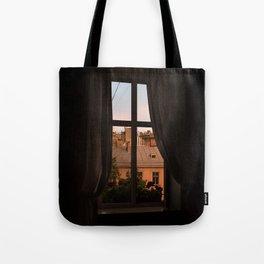 Lviv Ukraine Sunset Window Tote Bag
