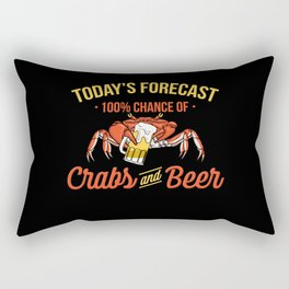 Crabs And Beer Forecast Alcohol Seafood Drinking Rectangular Pillow