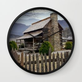 Appalachian Mountain Cabin Wall Clock