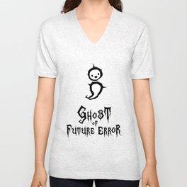 Programmer Ghost of Future (Semicolon) Error [black] Unisex V-Neck