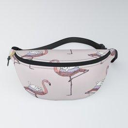 Flamingo and  Persian Cat Fanny Pack