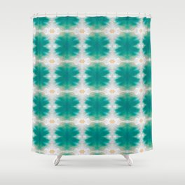 Waves and Sand Summer Pattern Shower Curtain