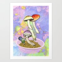 Druggy Charms Art Print