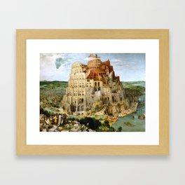 The Tower Of Babel Framed Art Print