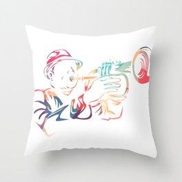 Flugelhorn Trumpet Throw Pillow