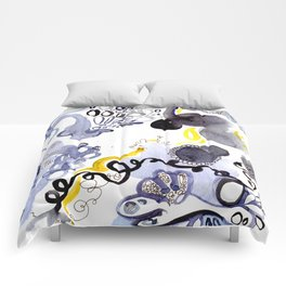Blue Frenzy Comforters