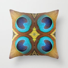 Colorful feather Throw Pillow