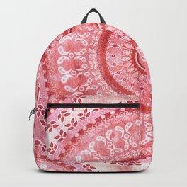 Vintage Coral Wash Mandala Backpack