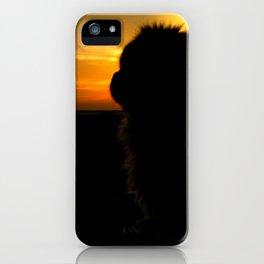 Lion dog sunset iPhone Case