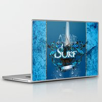 surfing Laptop & iPad Skins featuring Surfing by nicky2342