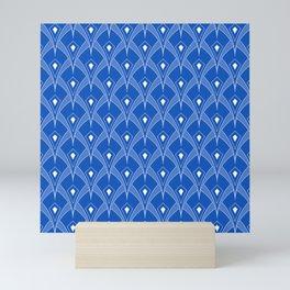 Blue Sapphire Pine Cone Peacock Feather Perspective Art Mini Art Print