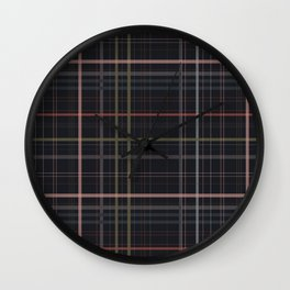 A very glommy plaid Wall Clock