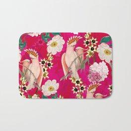 Vintage & Shabby Chic - Tropical Bird Flower Garden Bath Mat