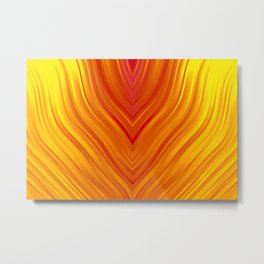 stripes wave pattern 3 eei Metal Print