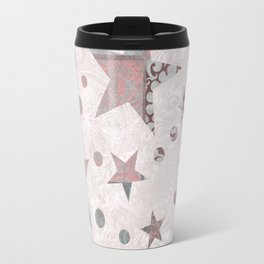 Pink Patchwork Stars Travel Mug