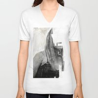 number V-neck T-shirts featuring Faceless | number 03 by FAMOUS WHEN DEAD