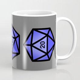 Blue d20 Coffee Mug