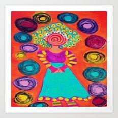 Spiralling Art Print