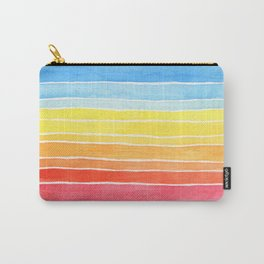 Rainbows and Clouds Watercolor Painting Carry-All Pouch