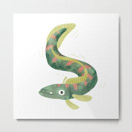 Wiggly Fish Metal Print