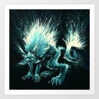 werewolf Art Prints featuring Werewolf. by Danilo Sanino