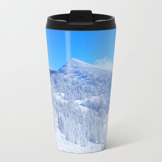 Winter Landscape Metal Travel Mug