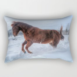 Fire and Ice - Equine Photography Rectangular Pillow