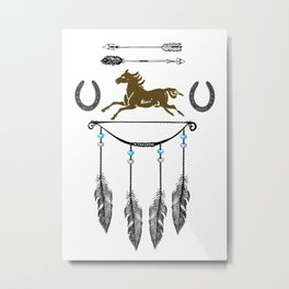 Horse Feathers Metal Print