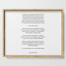 Typewriter Style Quote ((Tyler Kent White)) Serving Tray