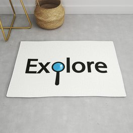 Explore creative typography design Rug