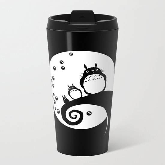 Totoro Before Christmas Metal Travel Mug