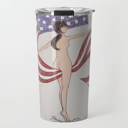 Going To California on 4th of July Travel Mug