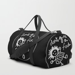 """Don't give a fuck - Little babe doodle"" Duffle Bag"