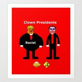 Clown Presidents Art Print