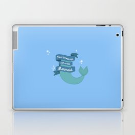 Dont mess up with a mermaid T-Shirt Dvafe Laptop & iPad Skin