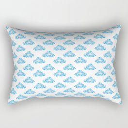 Diamond Clouds in the Sky Pattern Rectangular Pillow